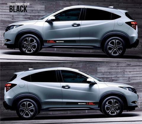 honda stickers hr-v vezel crossover racing stripes sticker decal kit cvt earth dreams suv vti i-vtec sohc abs brake ebd crossroad pedal drift jdm SSL-077 - Infinity270