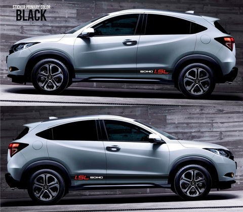 honda stickers hr-v vezel crossover racing stripes sticker decal kit cvt earth dreams suv vti i-vtec sohc 4wd modern engine tuning bezel urban car SSL-080 - Infinity270