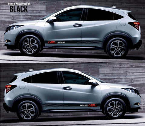 honda stickers hr-v vezel crossover racing stripes sticker decal kit cvt earth dreams suv vti i-vtec sohc cuv mugen spoon jdm japan lower race drift SSL-085 - Infinity270