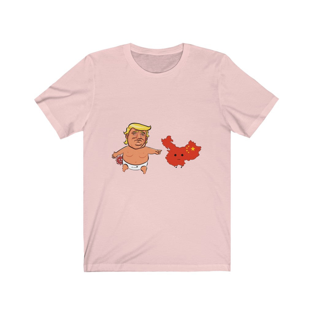 Baby Trump China Virus Unisex Jersey Short Sleeve Tee