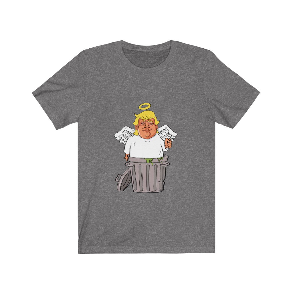 Angel Trump Trashcan Unisex Jersey Short Sleeve Tee