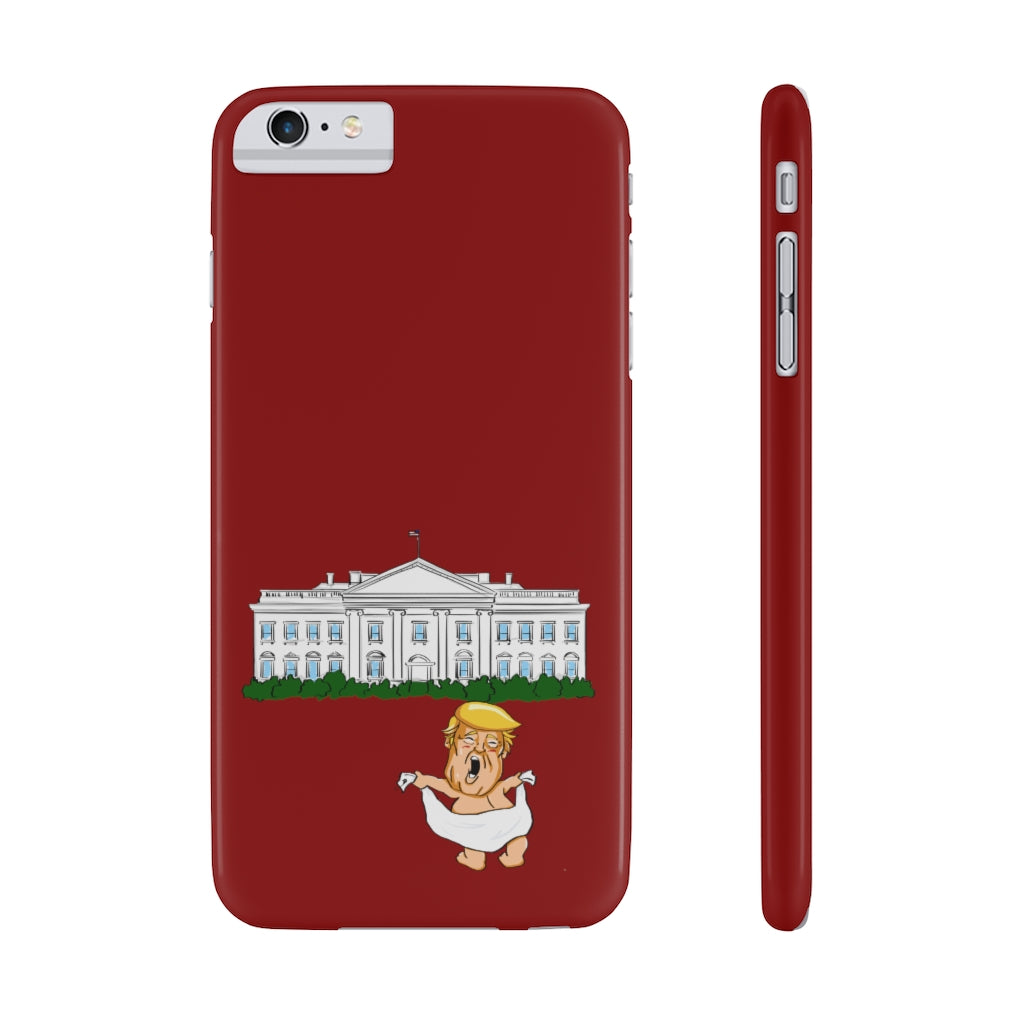 Maroon Baby Trump White House Slim Phone Cases (15 models)