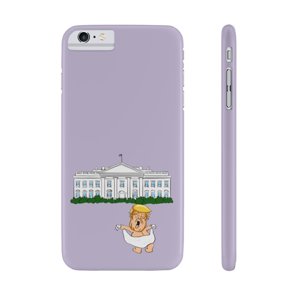 Lilac Baby Trump White House Slim Phone Cases (15 models)