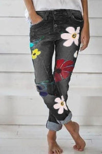 Printed Slim Fit jeans