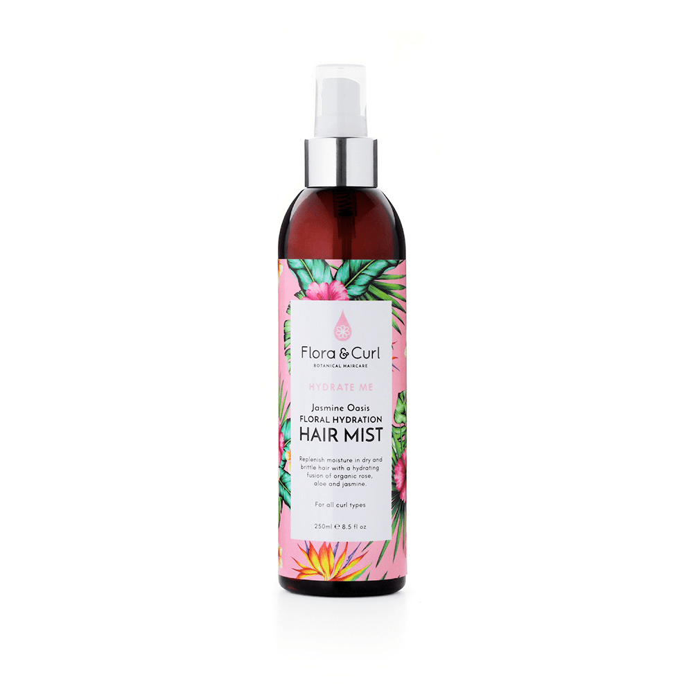 Flora & Curl - Jasmine Oasis Hydrating Hair Mist | Curly girl approved refresher | Best curly girl refreshing hairspray for curly hair | Curly girl metoden | Hårspray til curly girl metoden | Hårspray til krøllet hår | Refresher hairspray for wavy, curly, afro hair | Best curly girl refresher hair mist | Afro hår produkter | Curls and coils | curlsandcoils | | Produkter til krøllet hår | Hydrating Mist for curly hair |