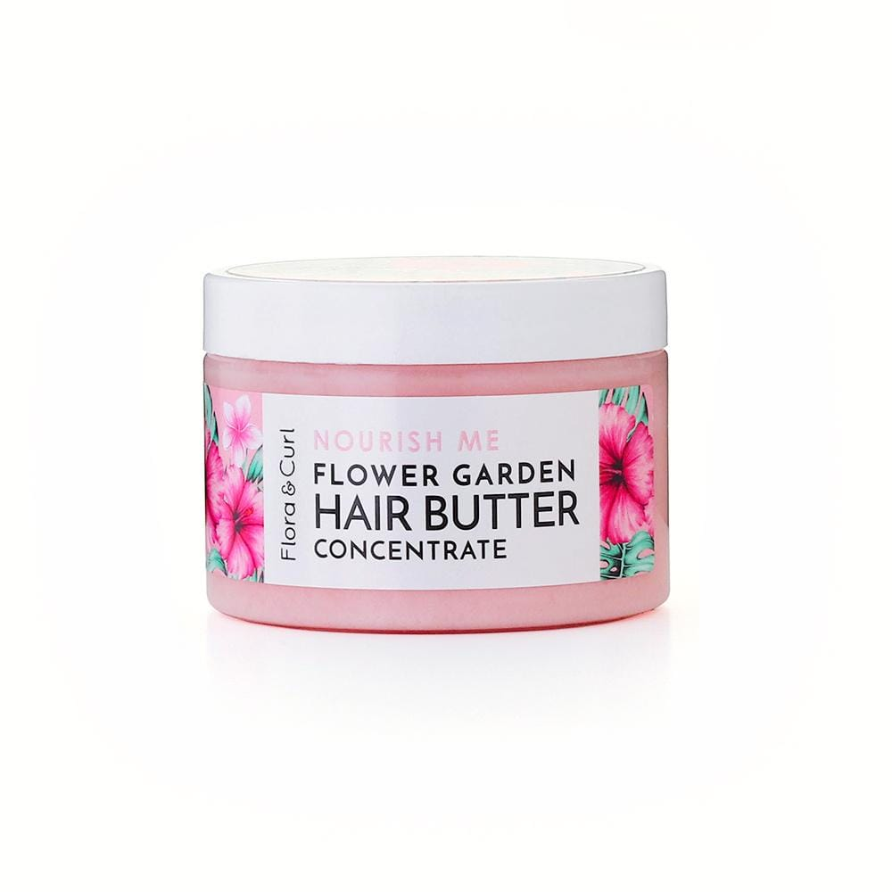 Flora & Curl - Flower Garden Hair Styling Butter | Curly girl approved oil | Best oil for curly hair | Curly girl metoden | Olie til curly girl metoden | Olie til twist outs | Twist out hair twisting butter | Best braidout butter | Afro hår produkter | Curls and coils | curlsandcoils | Produkter til krøllet hår | Curly Girl Method Products | Curly Girl Hairstyles | Curly Girl Products for wavy hair | Curly Girl  Method Approved Ingredients | Lockencreme