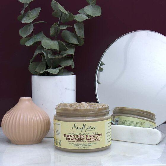 Jamaican Black Castor Oil SheaMoisture Masque - Strengthen and Restore Hair Treatment - CURLS & COILS