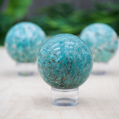 Amazonite Spheres - Crystal Magic online