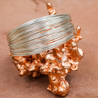 Silver Stacked Cuff - Crystal Magic online