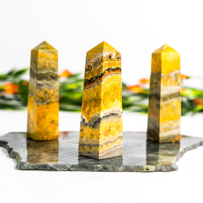 Bumblebee Jasper Obelisks - Crystal Magic online