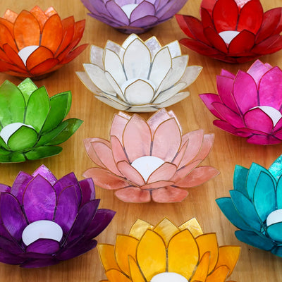 Lotus Tea Light Candle Holder - Crystal Magic online