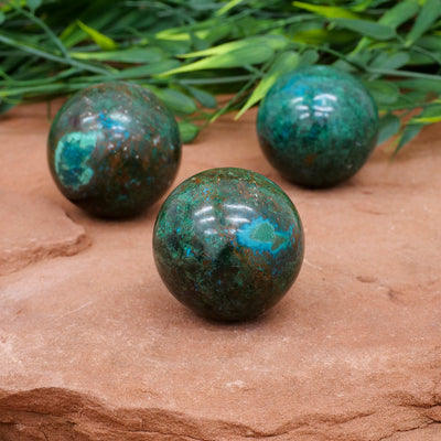 Chrysocolla Spheres - Crystal Magic online