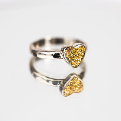 Gold Druzy Aura Ring - Crystal Magic online