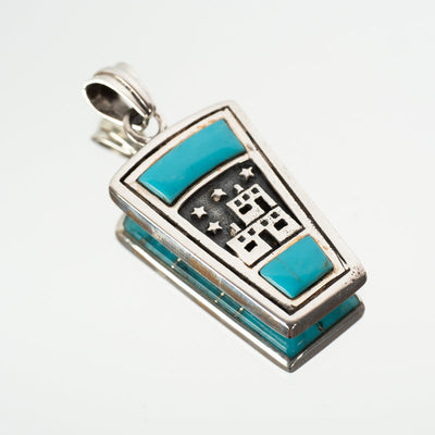 Double Sided Turquoise Pendant-Crystal Magic online
