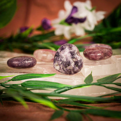 Lepidolite Hearts - Crystal Magic online