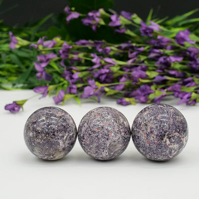 Lepidolite Spheres - Crystal Magic online