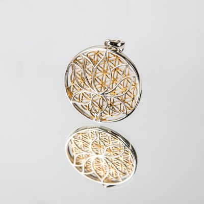 Lotus Flower Of Life Matrix Pendant - Crystal Magic online