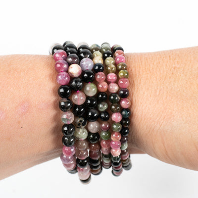 Multicolored Tourmaline Bracelets-Jewelry: Bracelet-Crystal Magic online