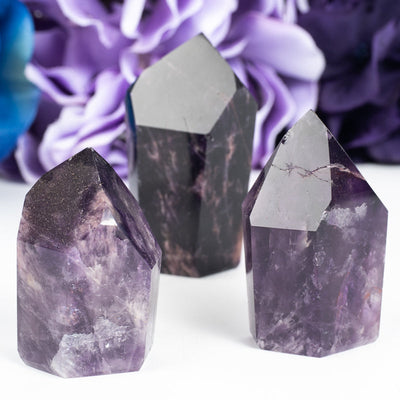 Dark Amethyst Natural Points-Crystal Point-Crystal Magic online