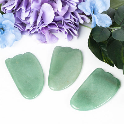 Green Aventurine Gua Sha Stones-Body Care: Massage Roller-Crystal Magic online