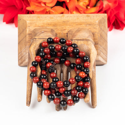 Dragons Blood And Ebony Wood Wrist Mala-Jewelry: Mala-Crystal Magic online