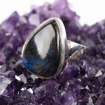 Labradorite Ring-Jewelry: Ring-Crystal Magic online