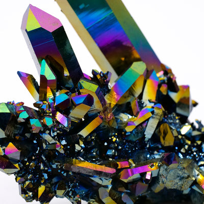 Rainbow Aura Quartz Cluster - Crystal Magic online