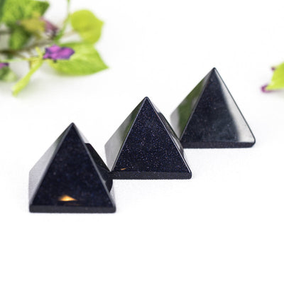 Blue Goldstone Pyramids - Crystal Magic online