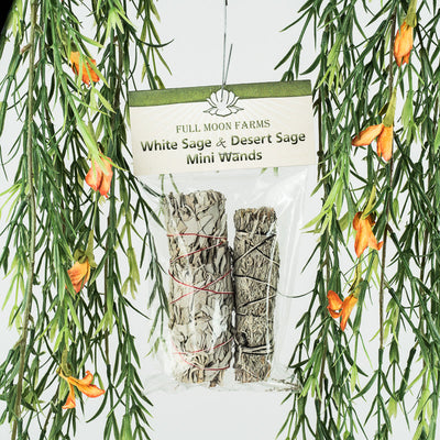White Sage & Desert Sage Mini Wands - Crystal Magic online