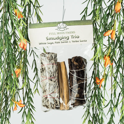 Smudging Trio-White Sage, Palo Santo, & Yerba Santa - Crystal Magic online