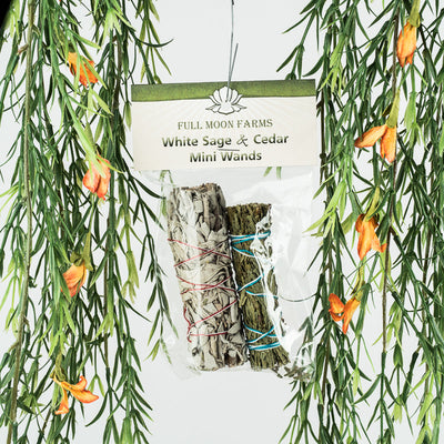 White Sage & Cedar Mini Wands - Crystal Magic online