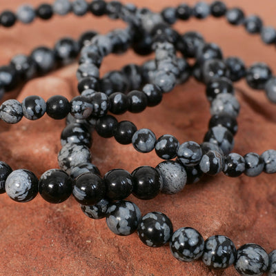 Snowflake Obsidian Bracelet - Crystal Magic online