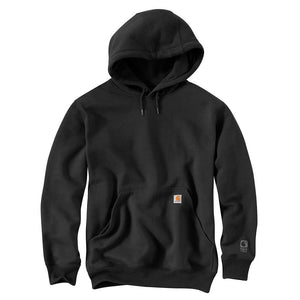 Carhartt Rain Defender Paxton Hooded Heavyweight Sweatshirt - BLACK Color