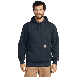 Carhartt Rain Defender Paxton Hooded Heavyweight Sweatshirt - NAVY Color