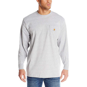 Carhartt Men's Long-Sleeve Workwear T-Shirt K126 - Heather Grey