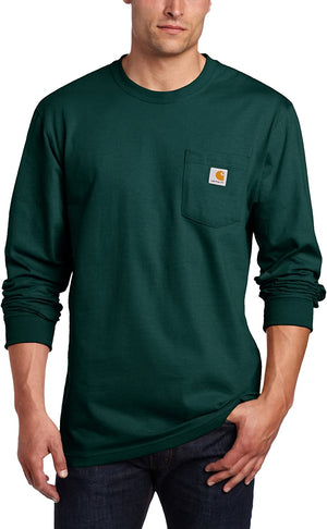 Carhartt Men's Long-Sleeve Workwear T-Shirt K126 - Hunter Green