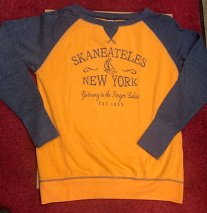 Skaneateles New York Gateway Crew Sweatshirt - Orange