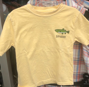Youth Trout Shirt - Yellow (Front)