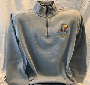 Skaneateles NY Quarter Zip Sweatshirt - Light Grey