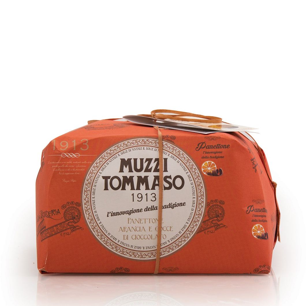 Tommaso Muzzi Panettone, Orange Chocolate 17.64Oz 500G^