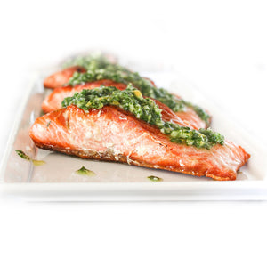 Grilled Salmon with Salsa Verde*