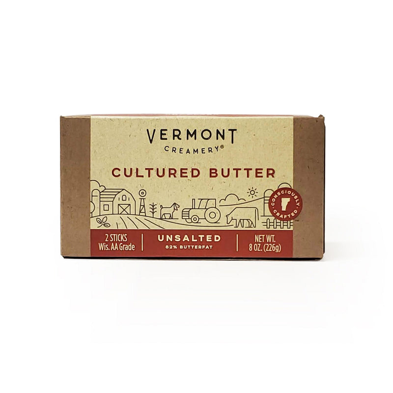 Vermont Creamery, Cultured Butter Sticks, Unsalted (8oz)