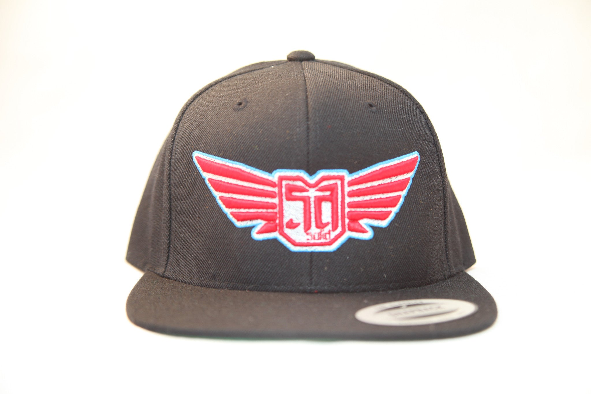 AV8 - FLEXFIT SNAP BACK HAT - BLACK - RED / WHT / BLU