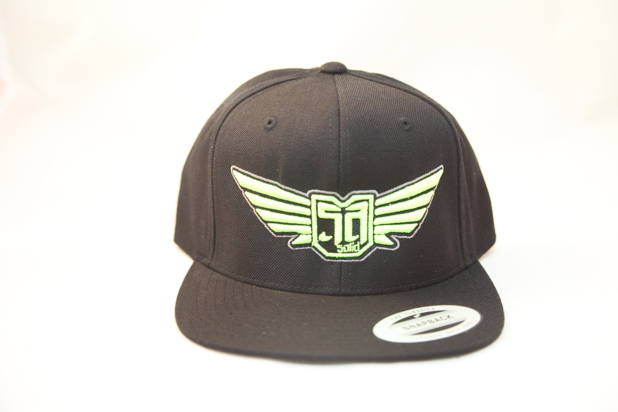 AV8 - FLEXFIT SNAP BACK HAT - BLACK - MNT / BLK / SLV LOGO