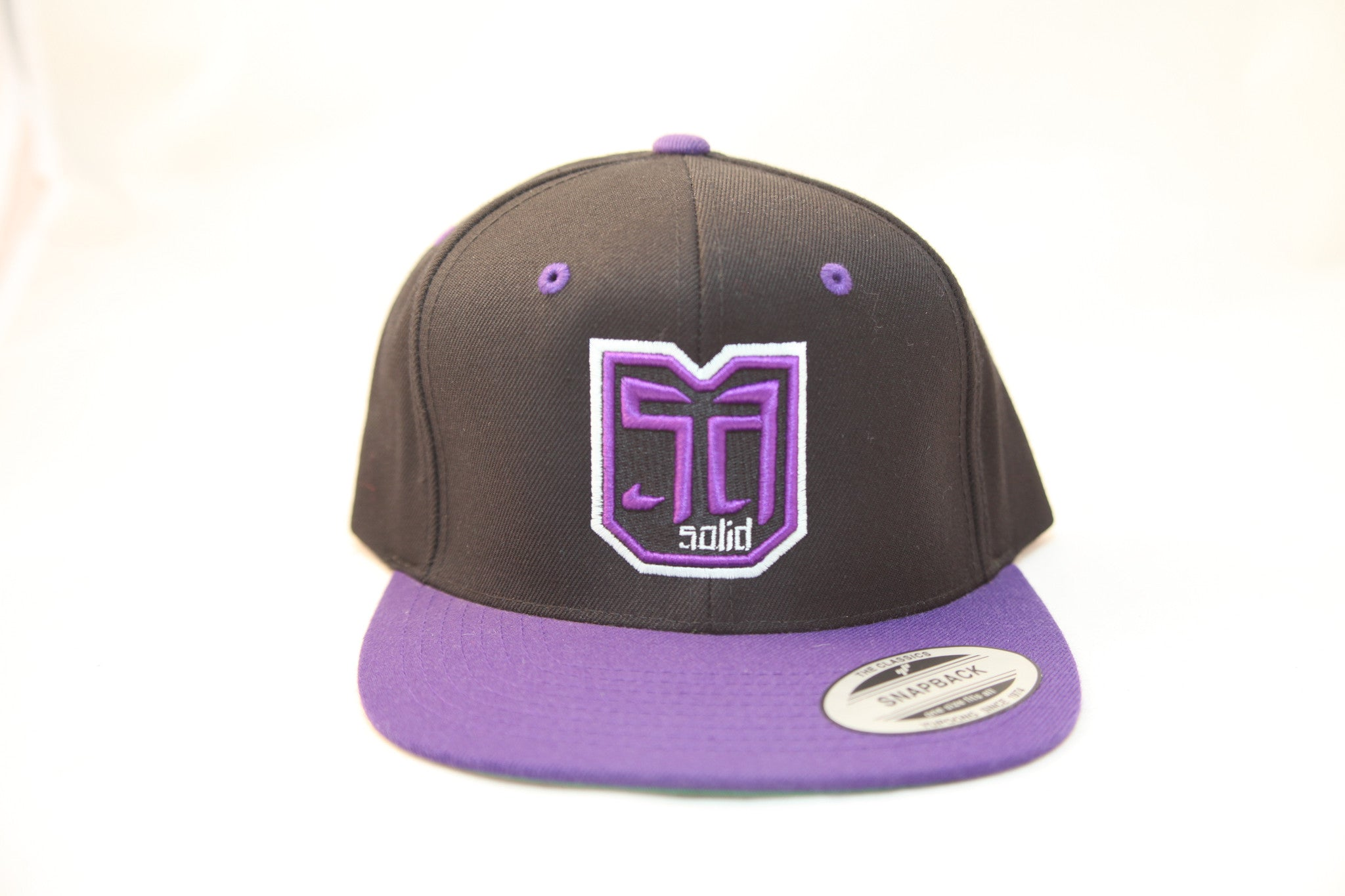 AV8 SHEILD - SNAP BACK - BLACK / PURPLE - PRL / BLK / WHT LOGO