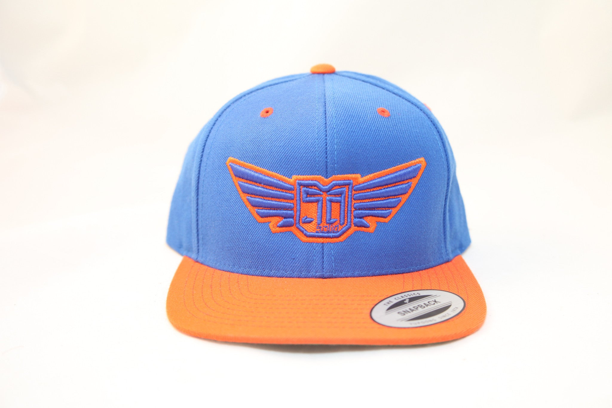AV8 - FLEXFIT SNAP BACK HAT - ORANGE / BLUE