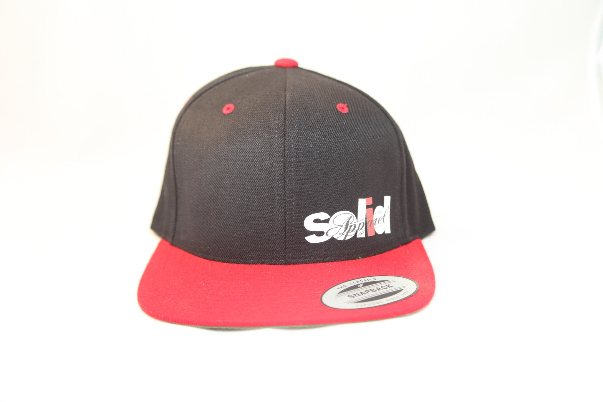SA - FLEXFIT SNAP BACK HAT - BLACK - WHT / RED / BLK LOGO