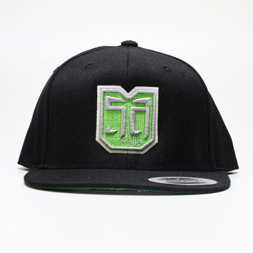 AV8 SHEILD - SNAP BACK - Black / Lime