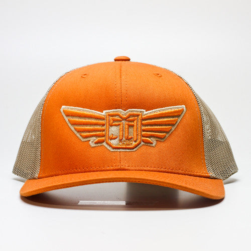 AV8 - MESH BACK - Orange / Tan
