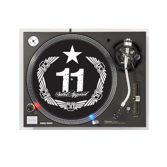 TURNTABLE - SLIP MATS - CREST - BLACK & WHITE